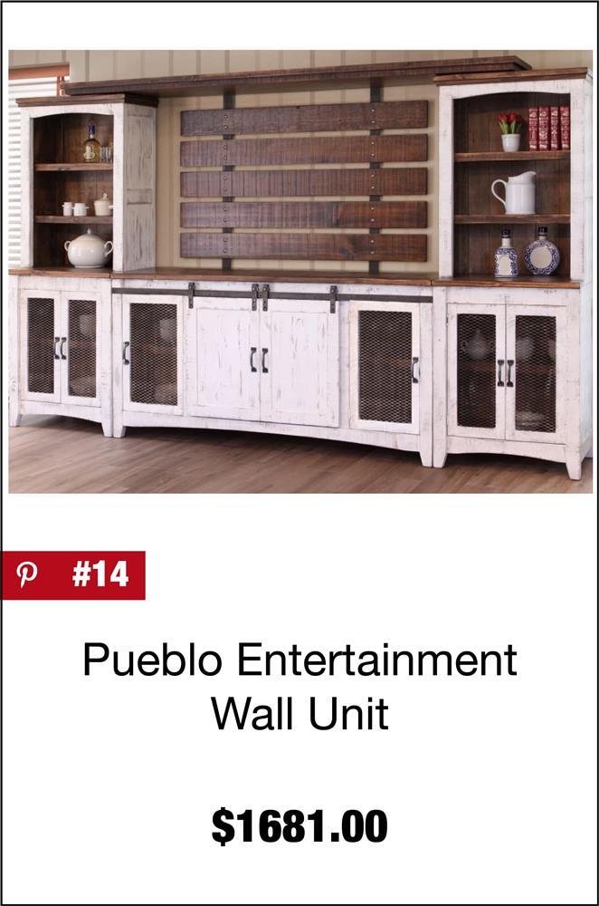 Pueblo Entertainment Wall Unit