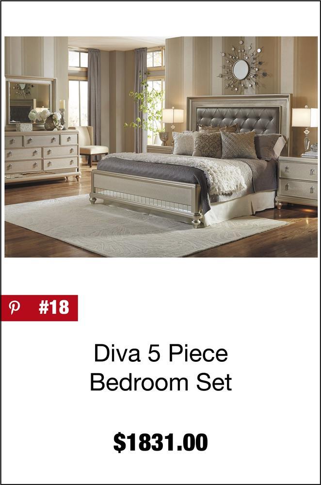 Diva 5 Piece Bedroom Set