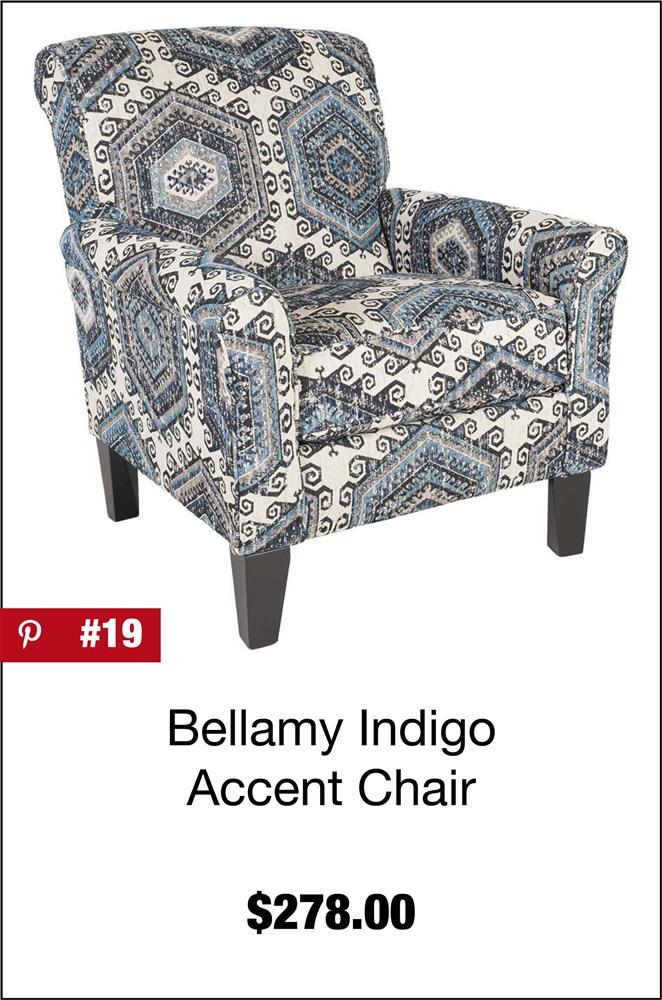 Bellamy Indigo Accent Chair