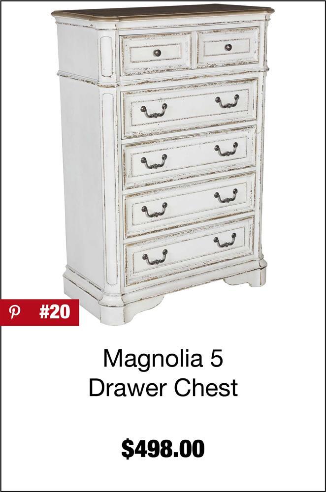 Magnolia Manor 5 Drawer Chest