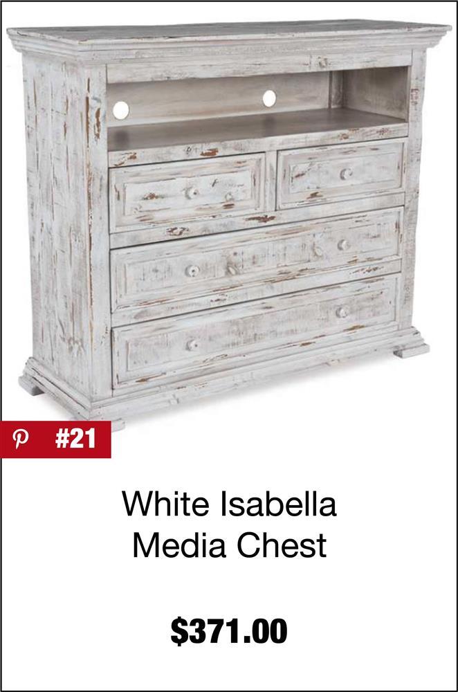 Isabella White Media Chest