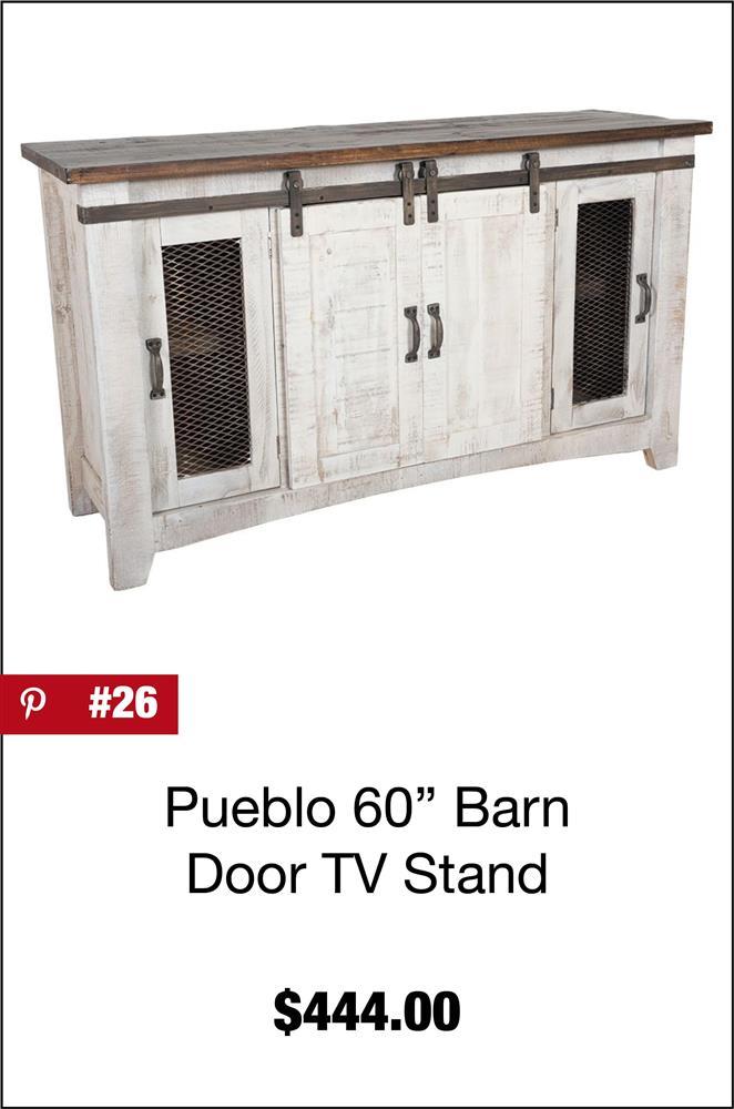 Pueblo 60'' Barn Door TV Stand