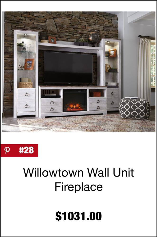 Willowton Wall Unit with Electric Fireplace
