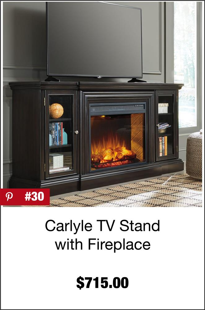 Carlyle TV Stand with Fireplace