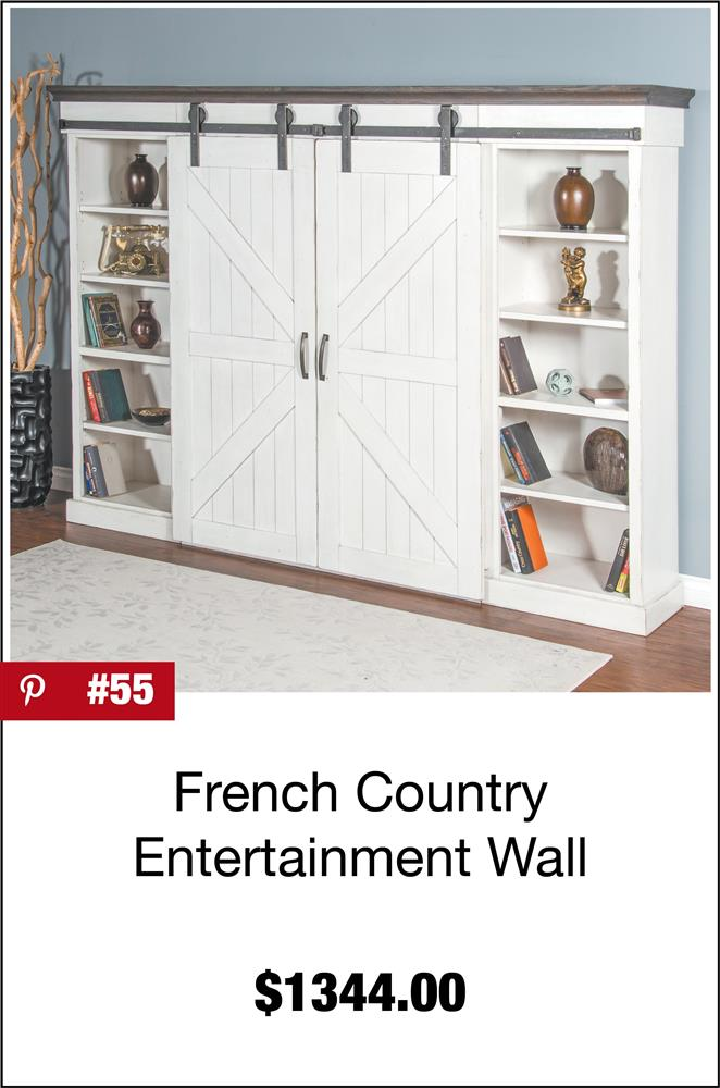 French Country Entertainment Wall