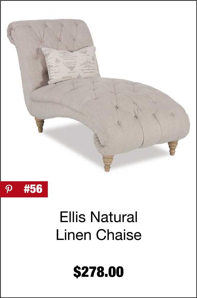 Ellis Natural Linen Chaise