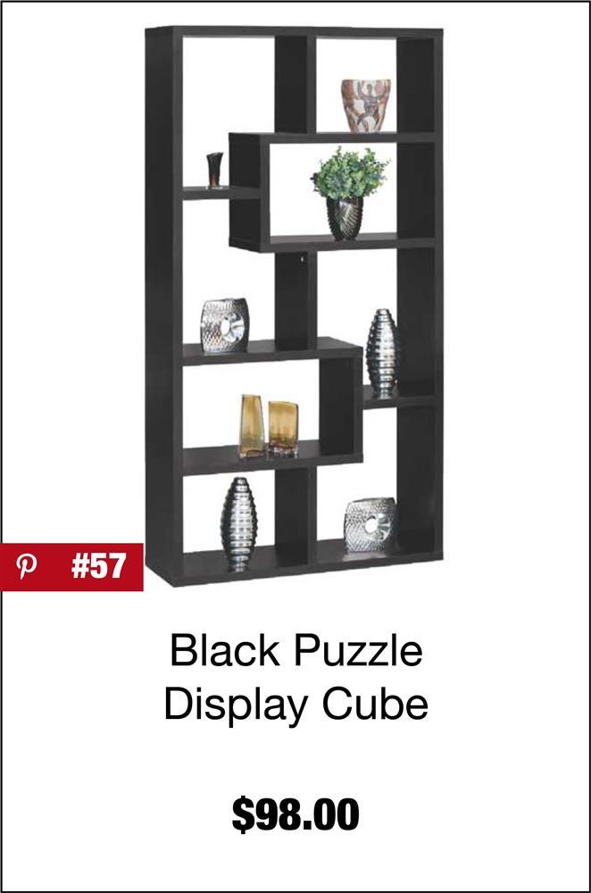 "Black ""Puzzle"" Display Cube"