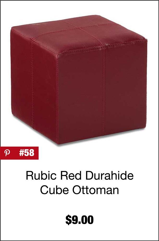 Rubic Red Durahide Cube Ottoman