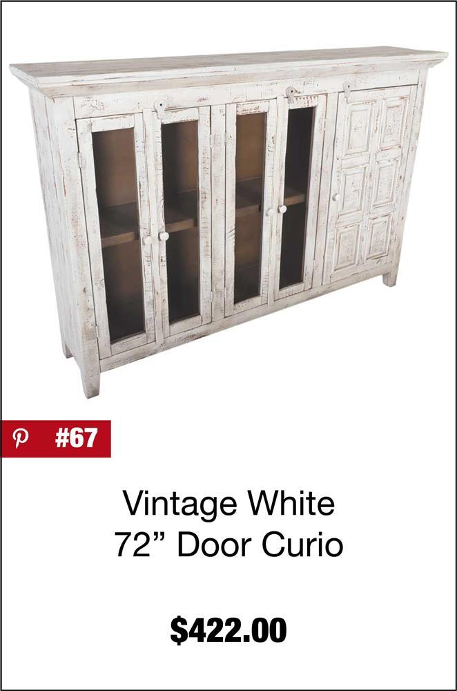 Vintage White 72-Inch Door Curio