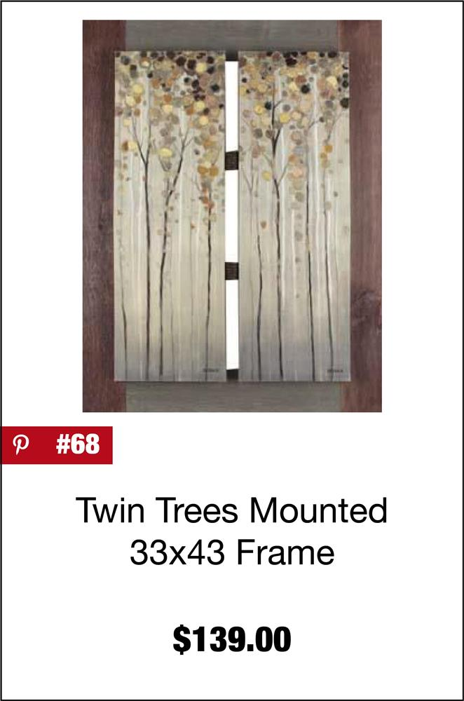 Twin Tree Mounted 33x43 FRAM