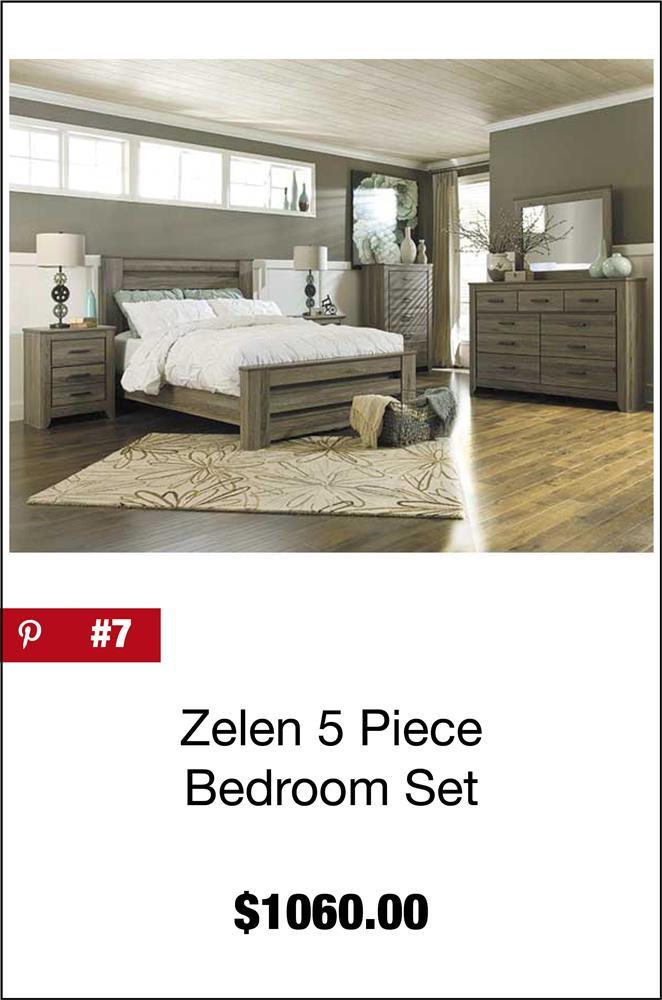 Zelen 5 Piece Bedroom Set