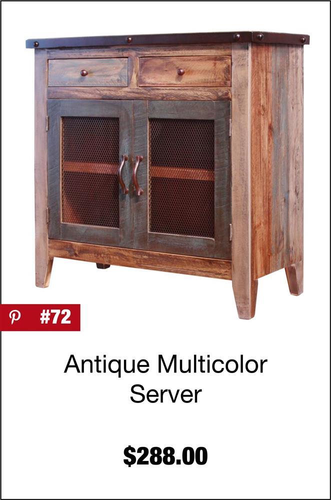 Antique Multicolor Server