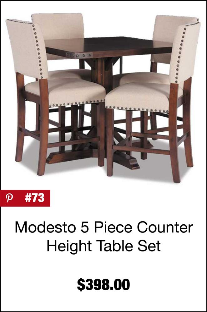 Modesto 5 Piece Counter Height Table Set