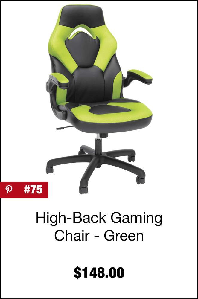 Green High-Back Gaming Chair