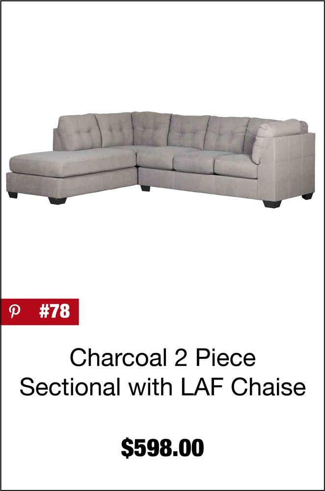 Maier Charcoal 2 Piece Sectional with LAF Chaise