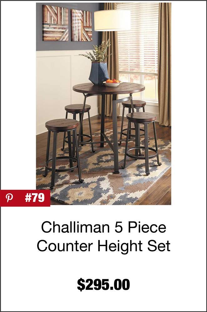 Challiman 5 Piece Counter High Set
