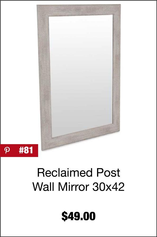 Reclaimed Post Wall Mirror 30x42