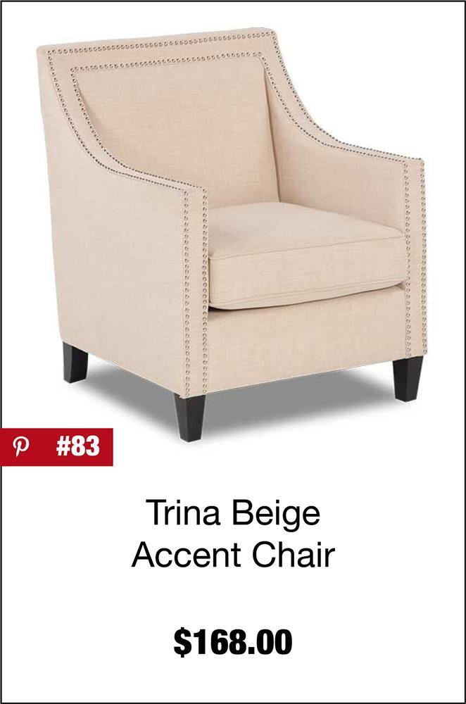 Trina Beige Accent Chair