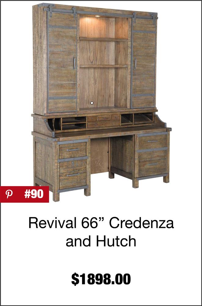 Artisan Revival 66-Inch Credenza and Hutch