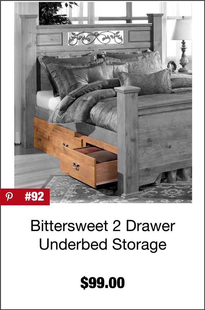 Bittersweet 2 Drawer Underbed Storage