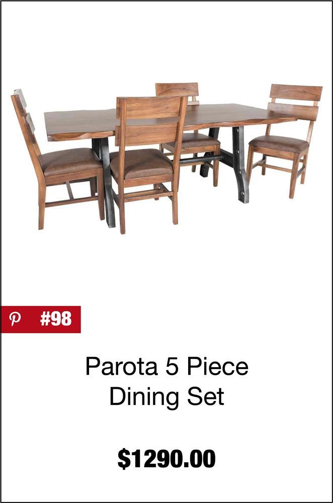 Parota 5 Piece Dining Set