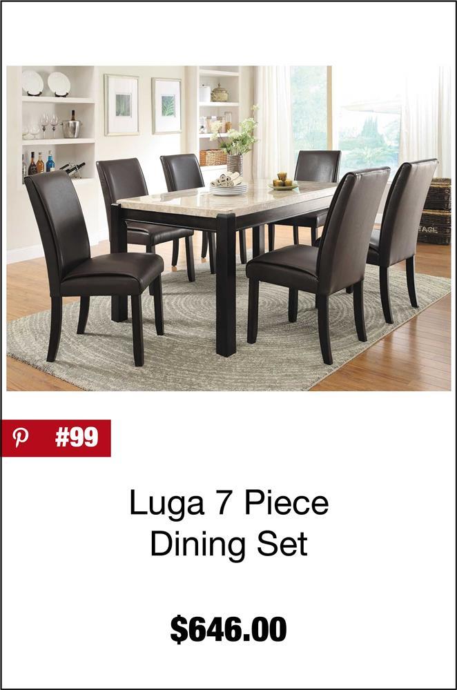 Luga 7 Piece Dining Set