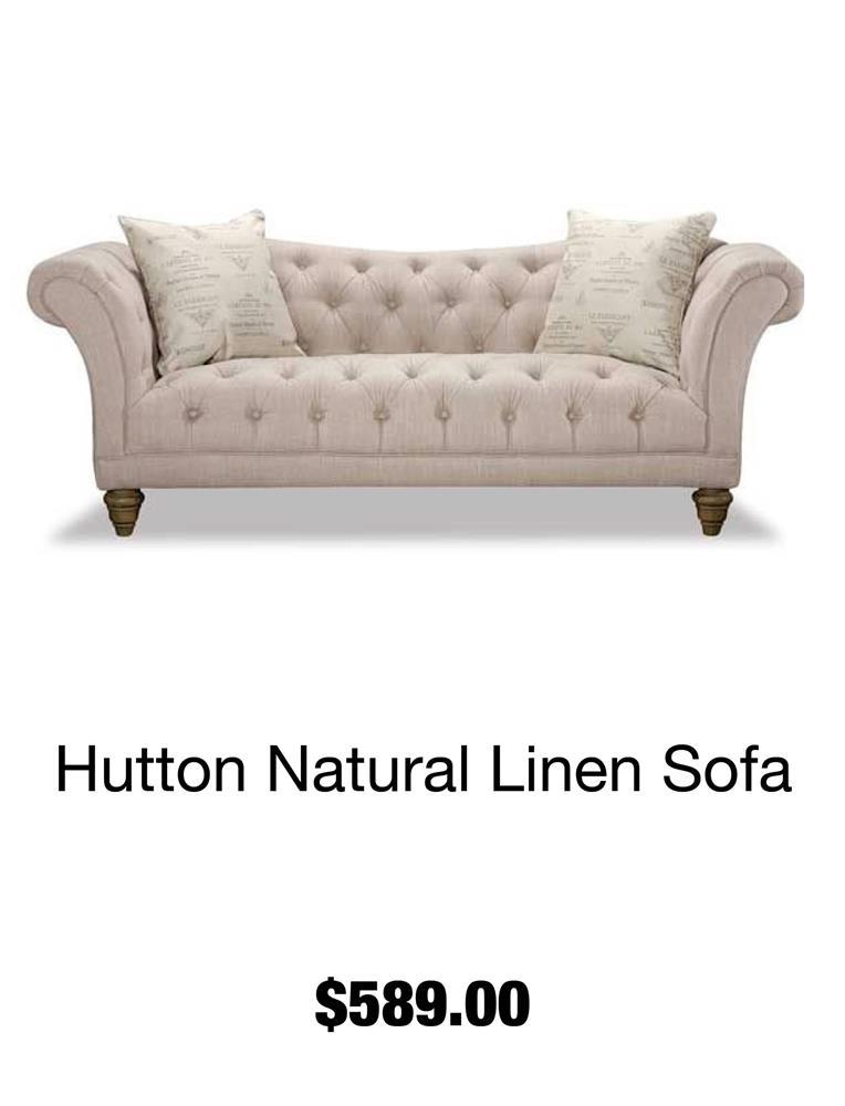 Hutton Natural Linen Sofa
