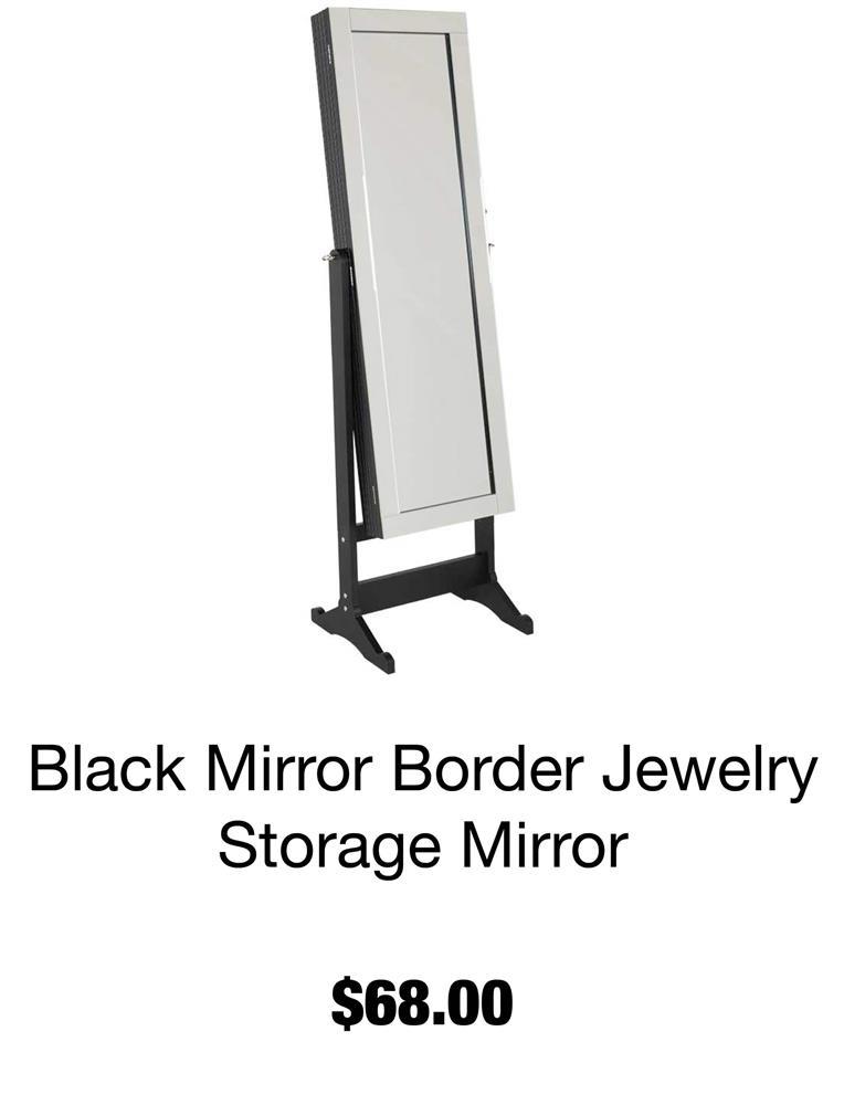 Black Mirror Border Jewelry Storage Mirror
