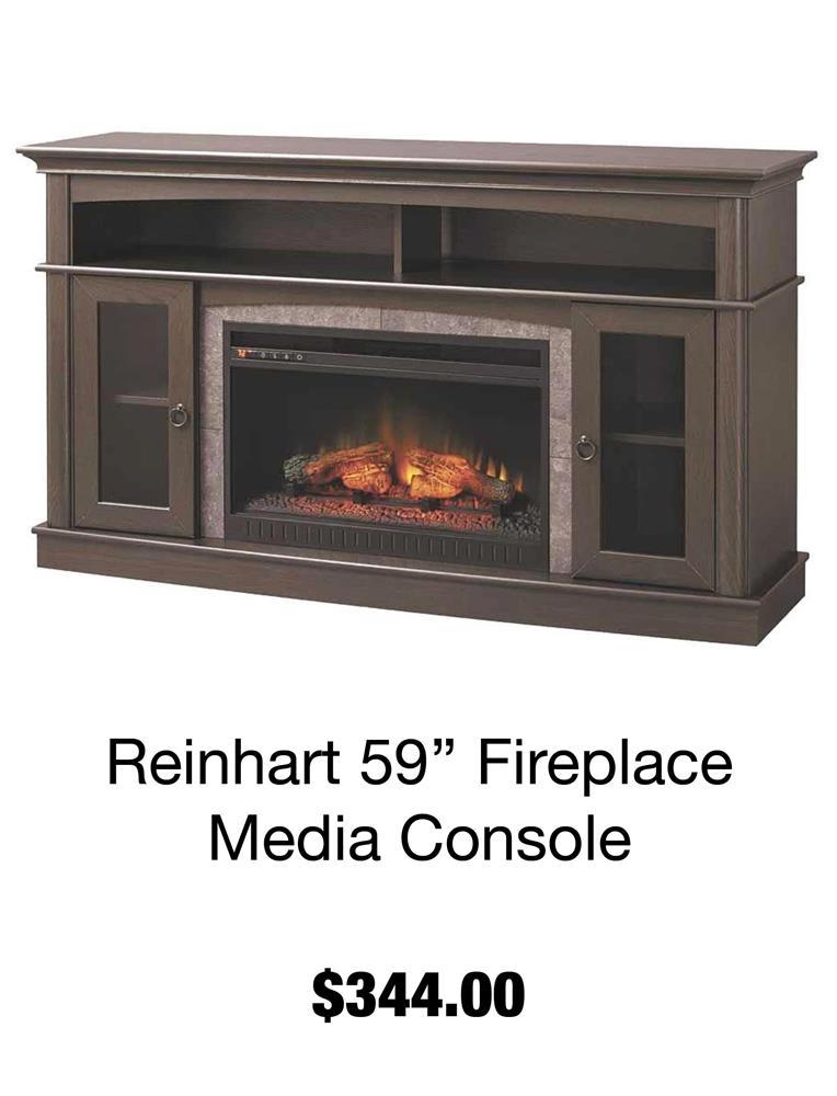 Reinhart 59'' Fireplace Media Console