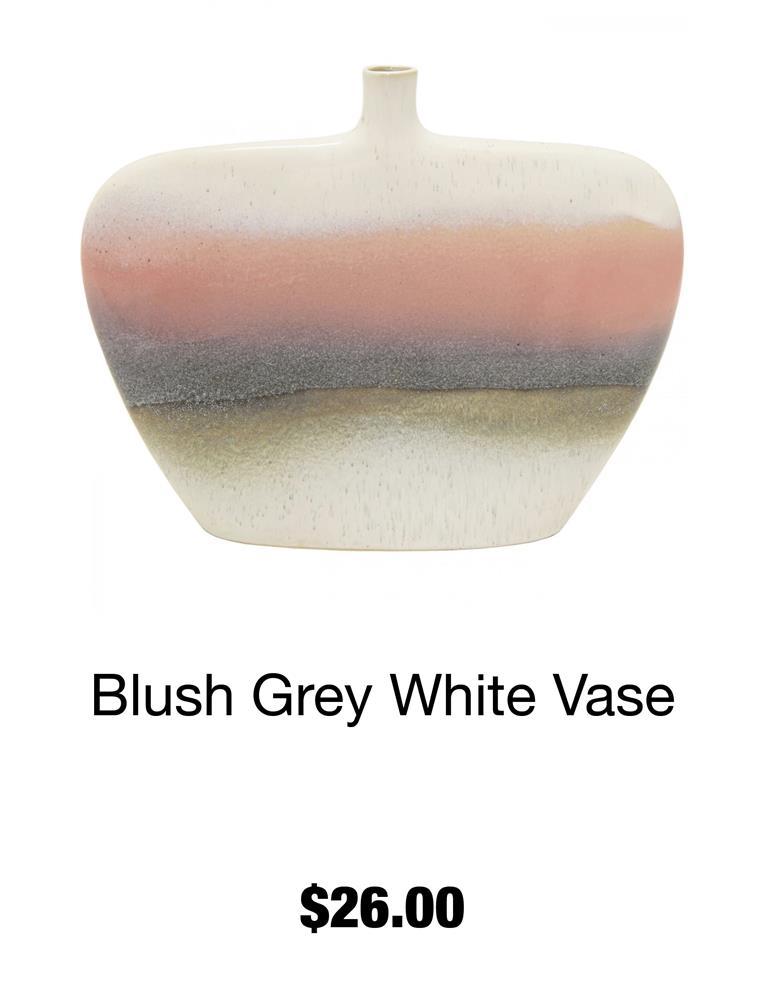 Blue Grey White Vase