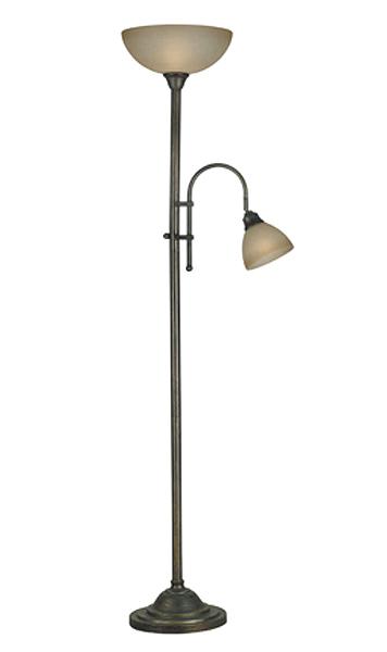 103-20995BH - Callahan Torchier w/ Reading Lamp