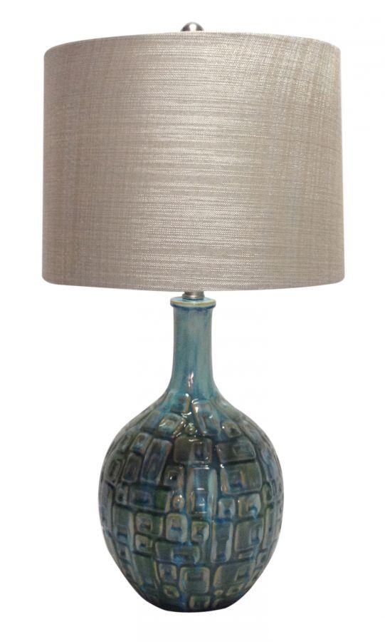 Teal Ceramic Table Lamp