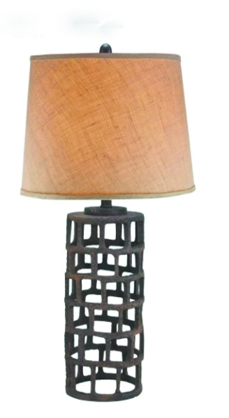 109-DL0022 - Industrial Grid 27in Table Lamp