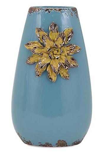 Kimber Blue Flower Vase