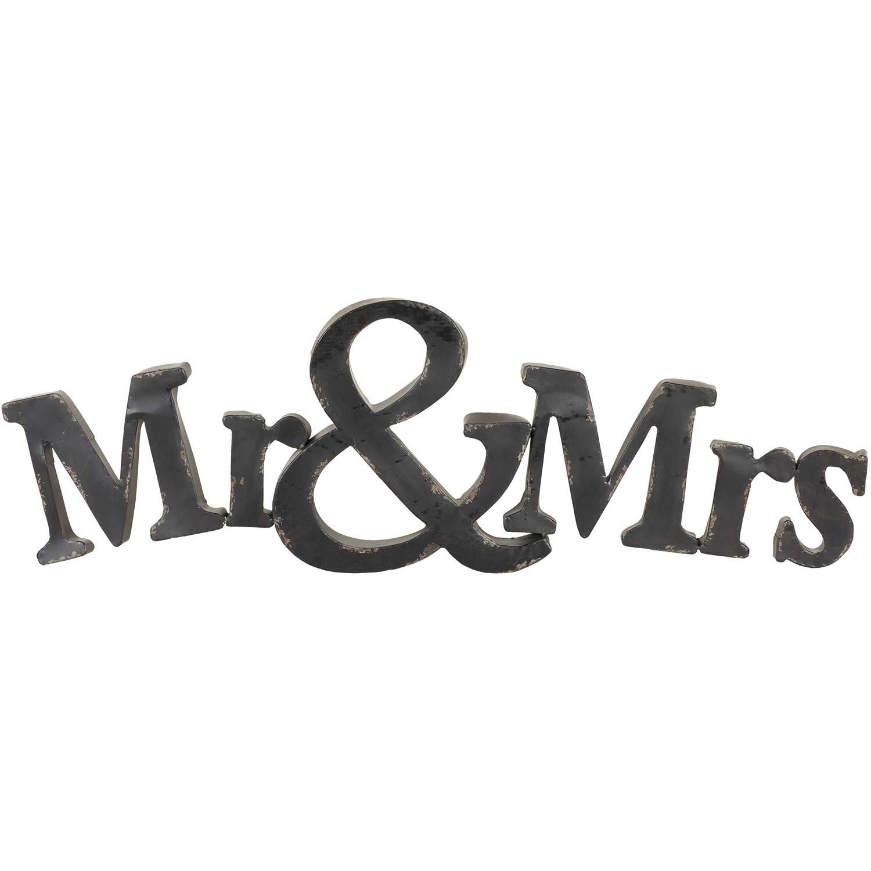 Mr & Mrs Metal Sign