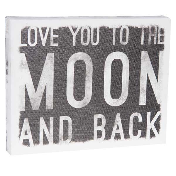 To The Moon 10x8 Message Cube