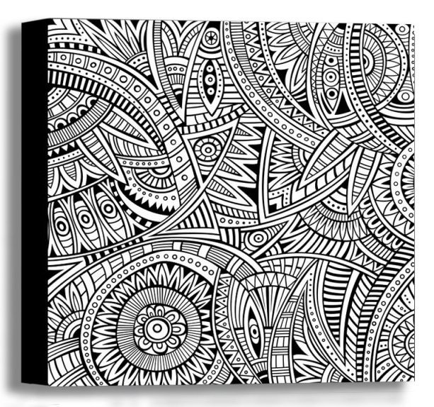 Color Your Own Canvas-Ethnic16x16 *D