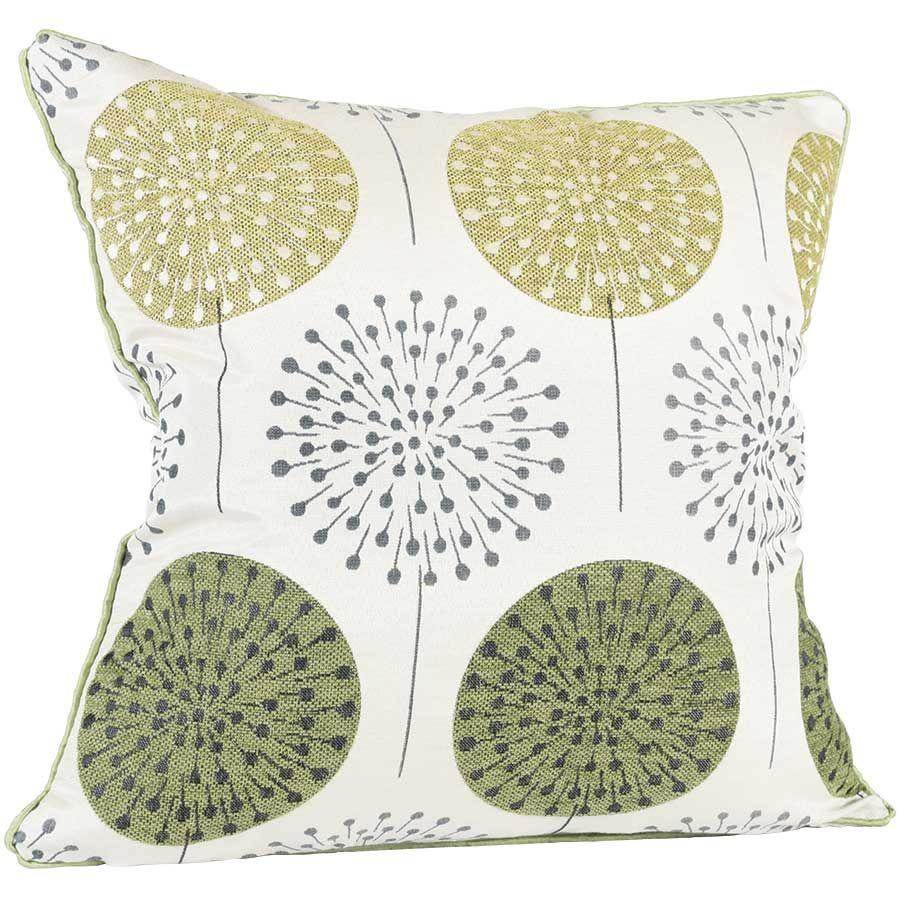 18x18 Green Chenille Pillow