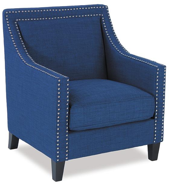 Trina Blue Accent Chair