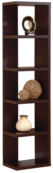 Modern Display Tower in Red Cocoa