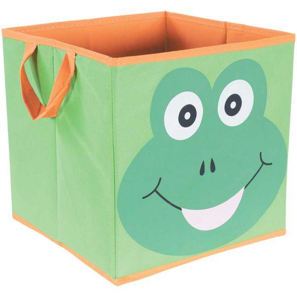 Green Frog Storage Bin