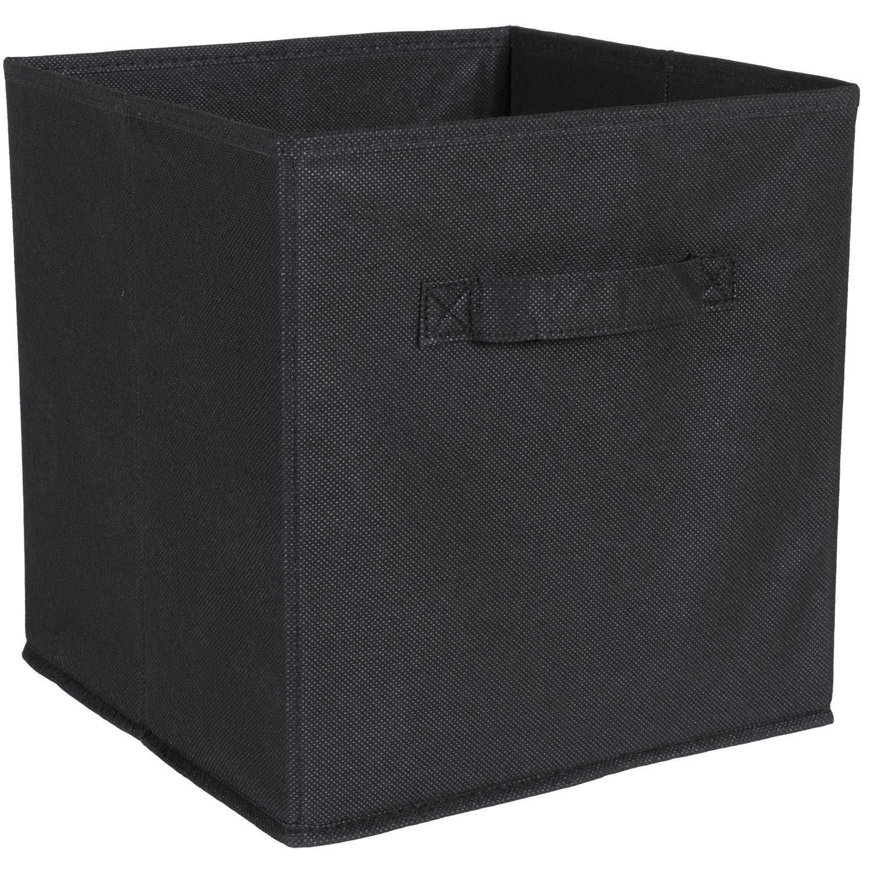 SystemBuild Black Fabric Bin