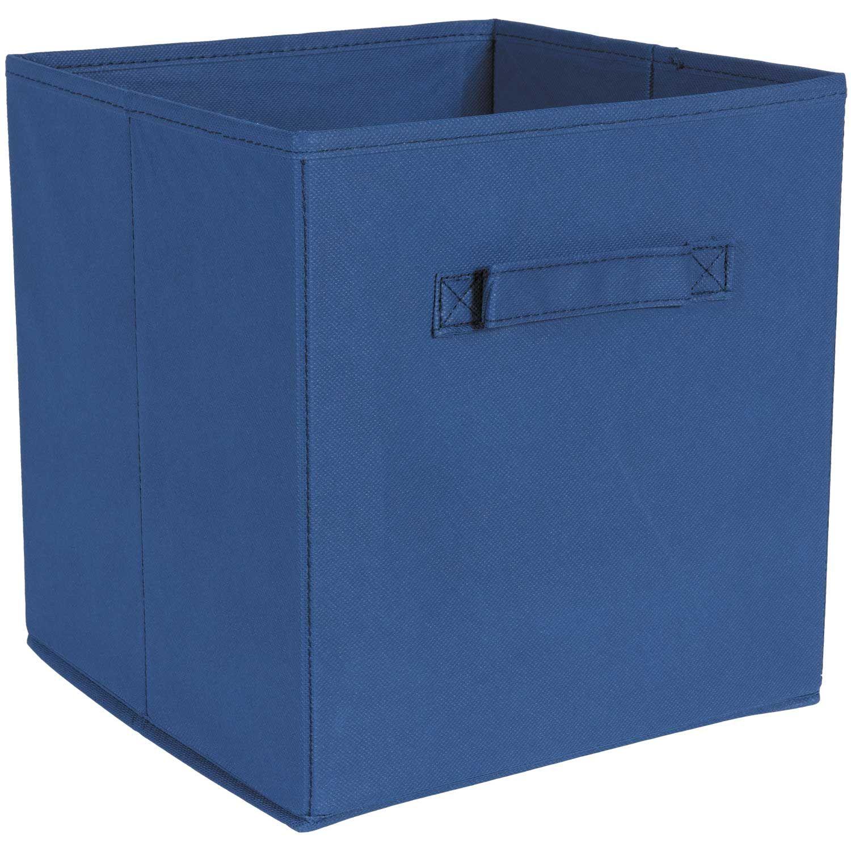 SystemBuild Blue Fabric Bin