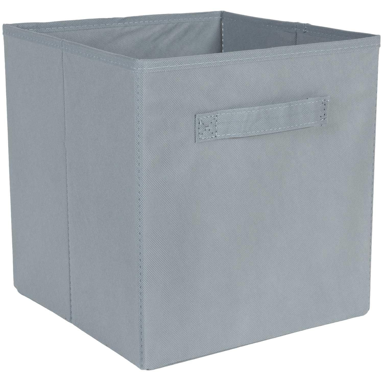 SystemBuild Gray Fabric Bin