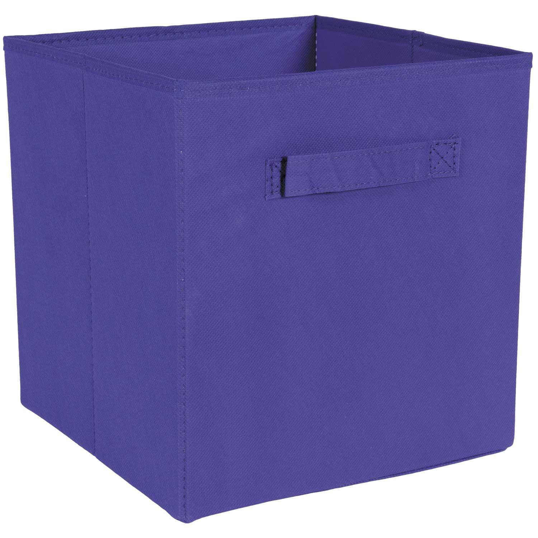 SystemBuild Purple Fabric Bin