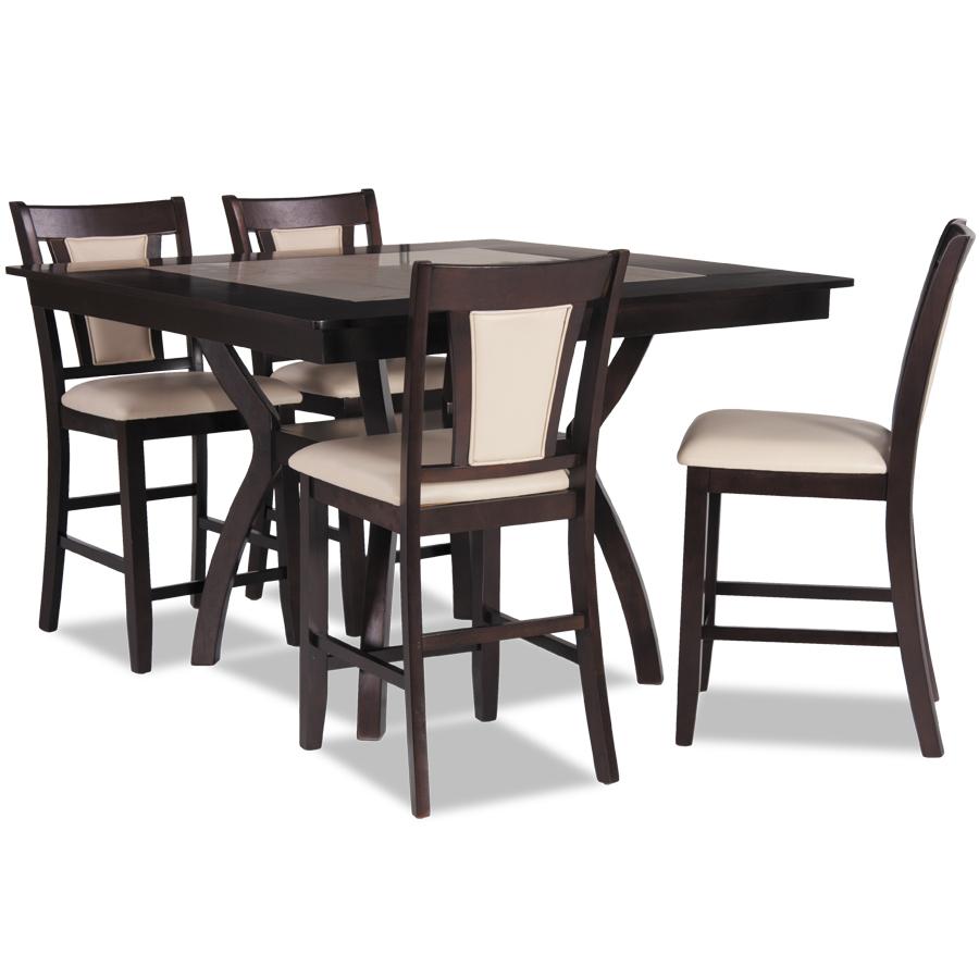 "Reno Counter Height Table and Reno Pad Seat 24"" Barstool"