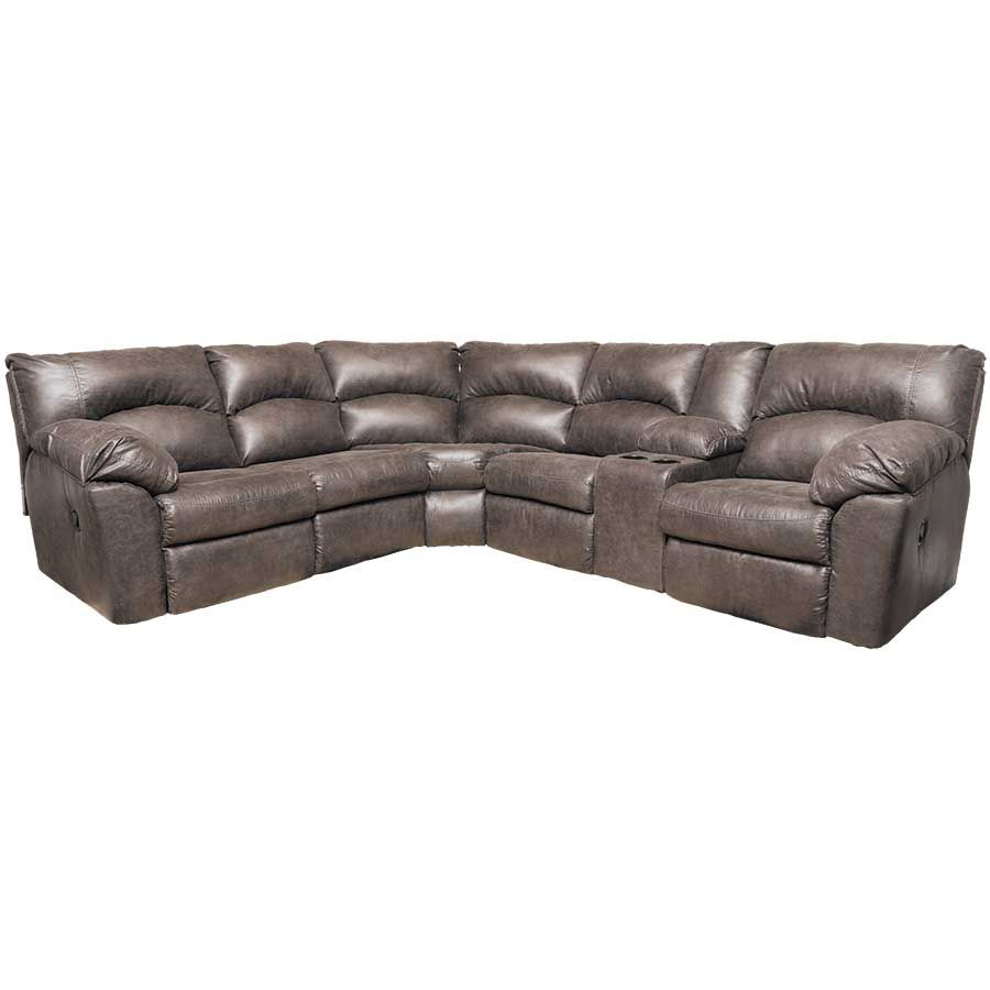 2PC Pewter Reclining Sectional