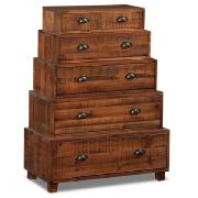 Rustic Tiered Accent Cabinet