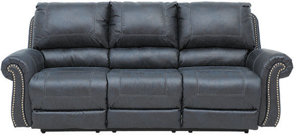 Navy Recline Sofa