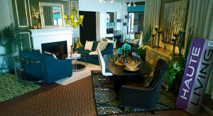 Quirky Quarters Room designed with blues and yellows